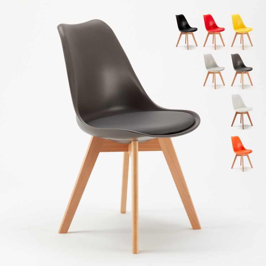 Chaise Avec Coussin Design Scandinave Nordica Bar Et Salle A Manger