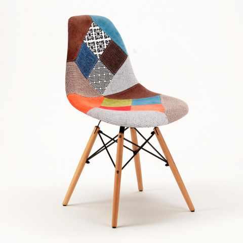 Chaise PATCHWORK Design Scandinave Pour Bar Bureau Et Salon