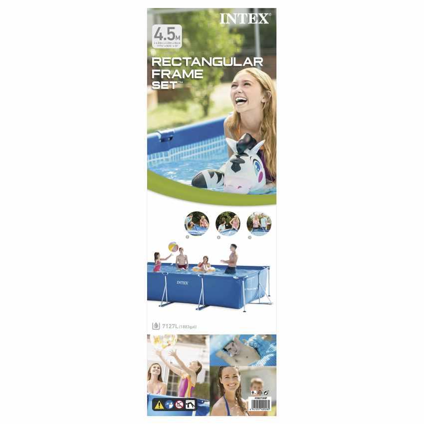 Piscine hors-sol autoportante Intex 28273 Frame rectangulaire 450x220x84 - migliore