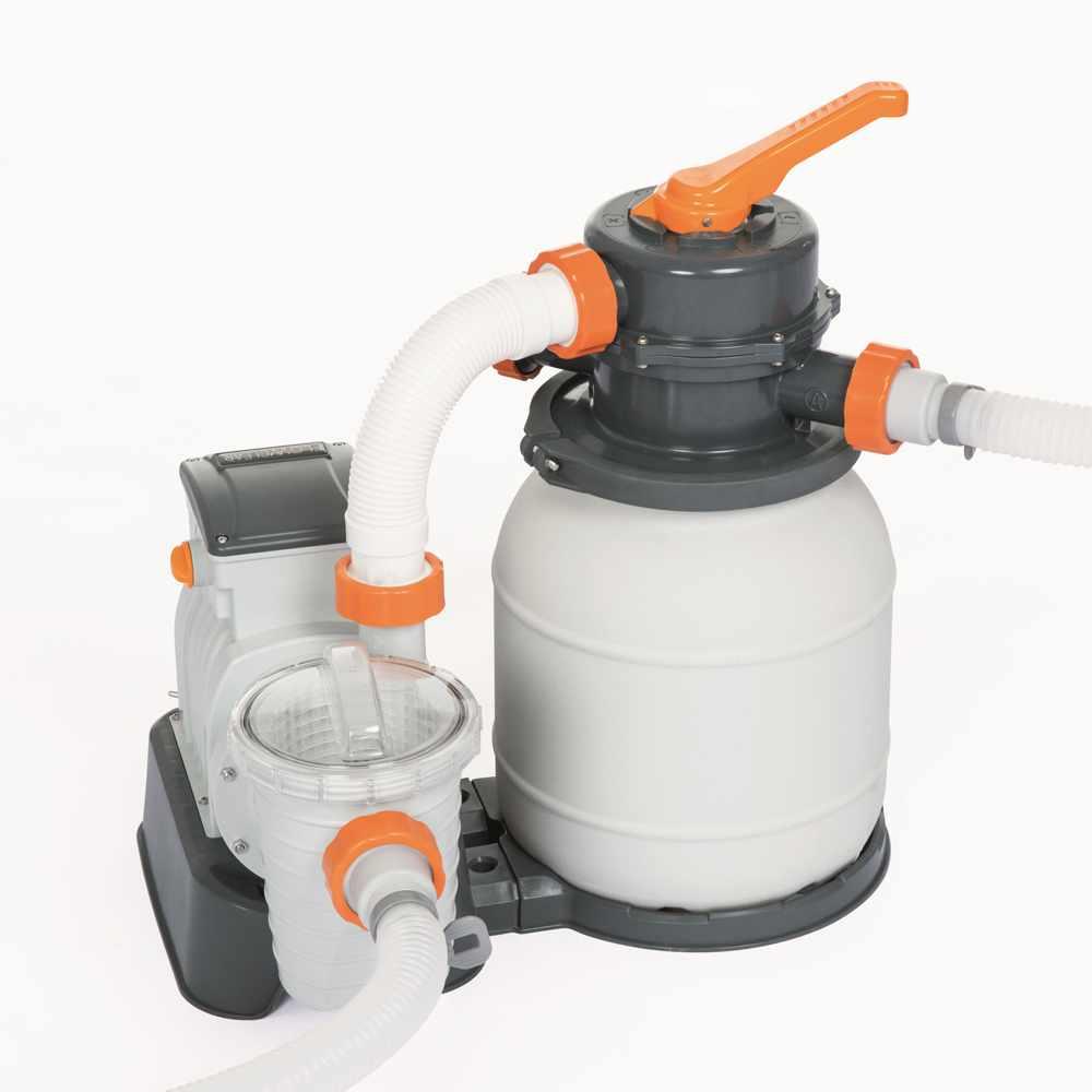 Bestway 58495 Flowclear Pompe Filtre A Sable 3785 L H Piscine Hors Sol