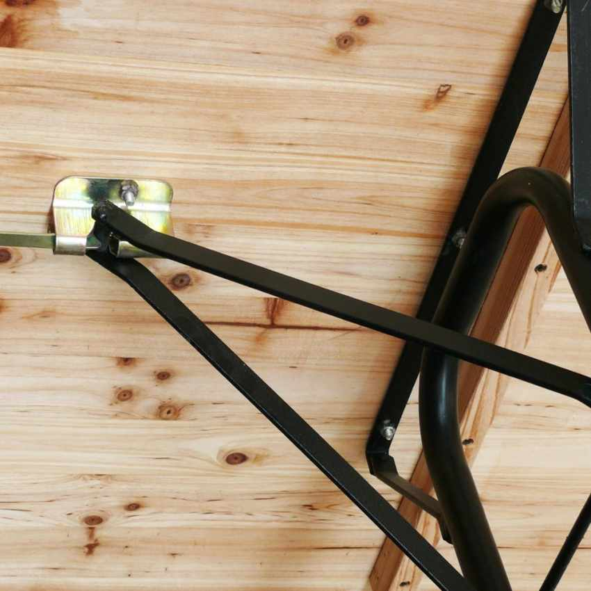 Table de brasserie bancs en bois 3 jambes pliant ensemble 220x80 10 pcs - promo