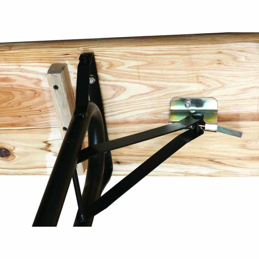 Table de brasserie bancs en bois 3 jambes pliant ensemble 220x80 10 pcs - esterno