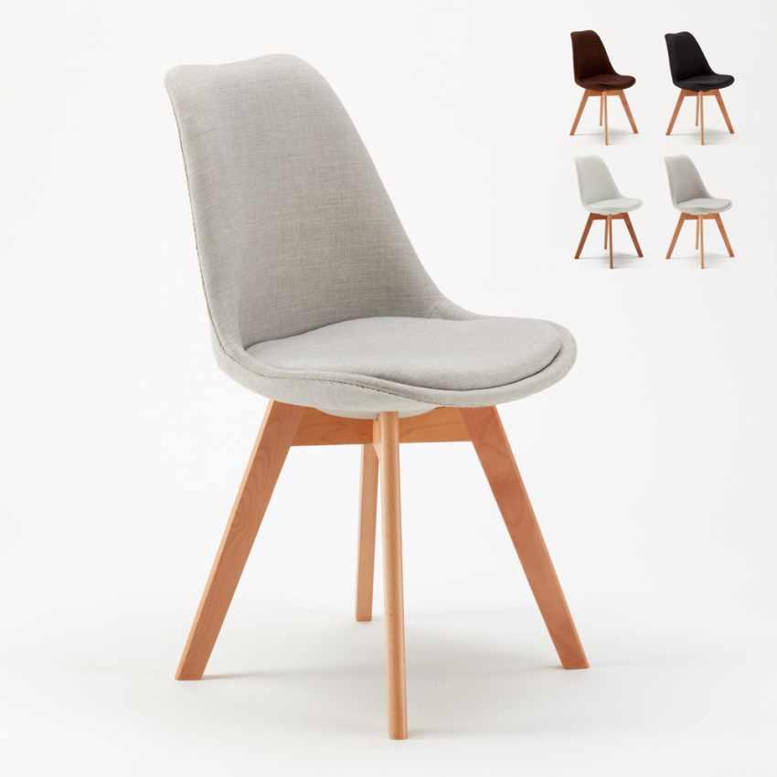 Lot De 20 Chaises Avec Coussin Tissu Design Scandinave NORDICA PLUS Pour Restaurants Et Bars