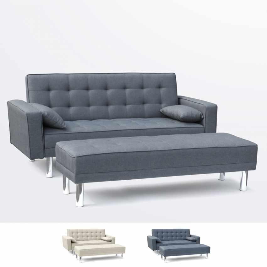 canape lit avec repose pieds et accoudoirs coussins 2 With canapé 2 places avec repose pieds