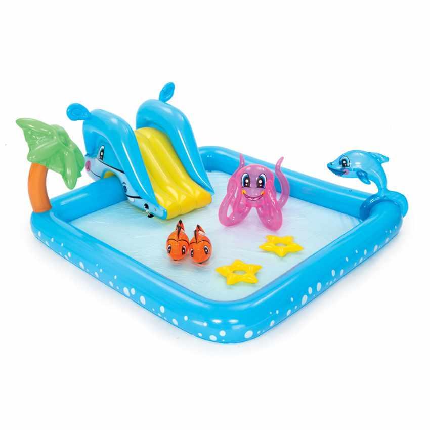 Piscine Gonflable pour Enfants Aquarium Jeu d'eau Bestway 53052 - interno