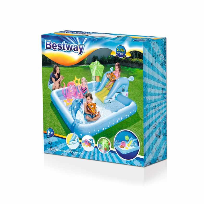 Piscine Gonflable pour Enfants Aquarium Jeu d'eau Bestway 53052 - vendita