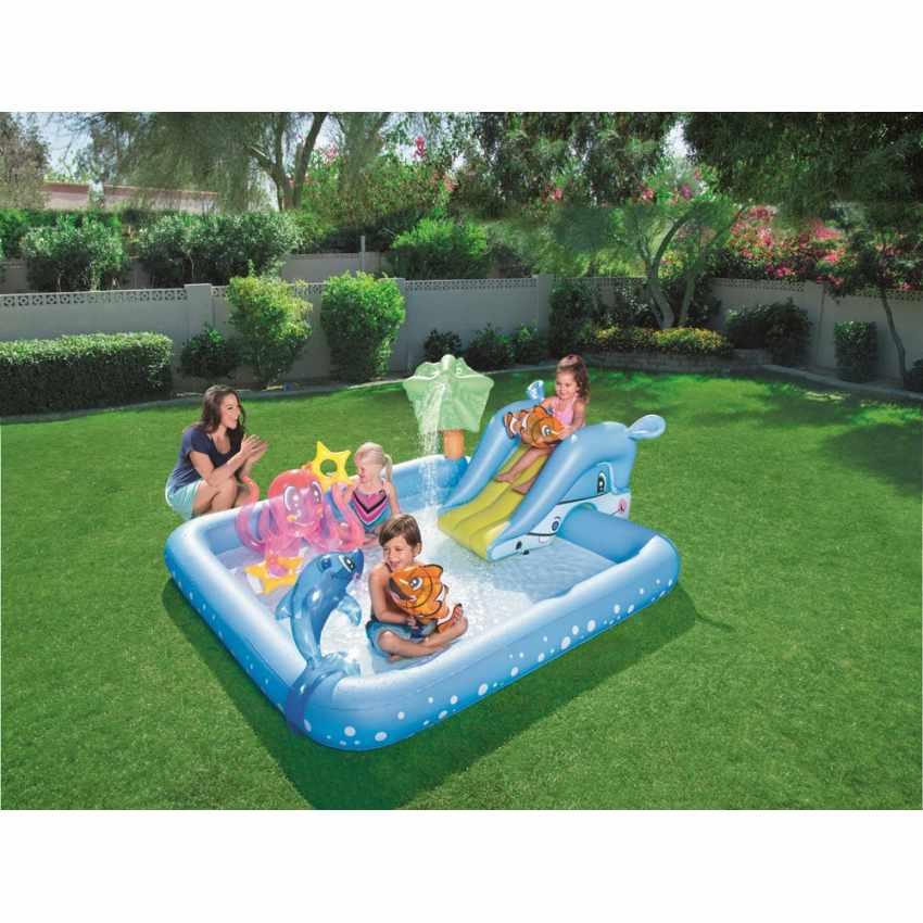 Piscine Gonflable pour Enfants Aquarium Jeu d'eau Bestway 53052 - immagine