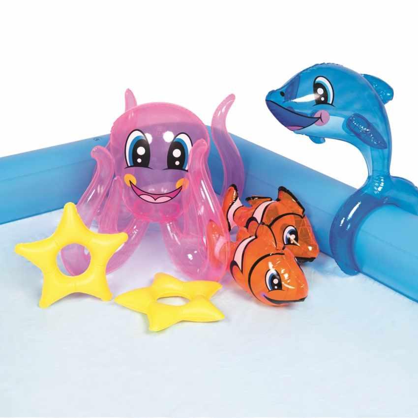 Piscine Gonflable pour Enfants Aquarium Jeu d'eau Bestway 53052 - dettaglio