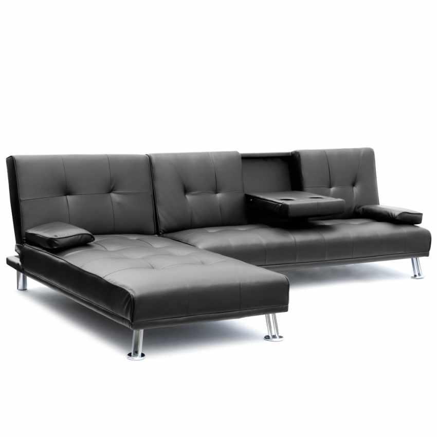 Canapé d'angle  3 places COBALTO pour salon et séjour avec accoudoir et péninsule - immagine