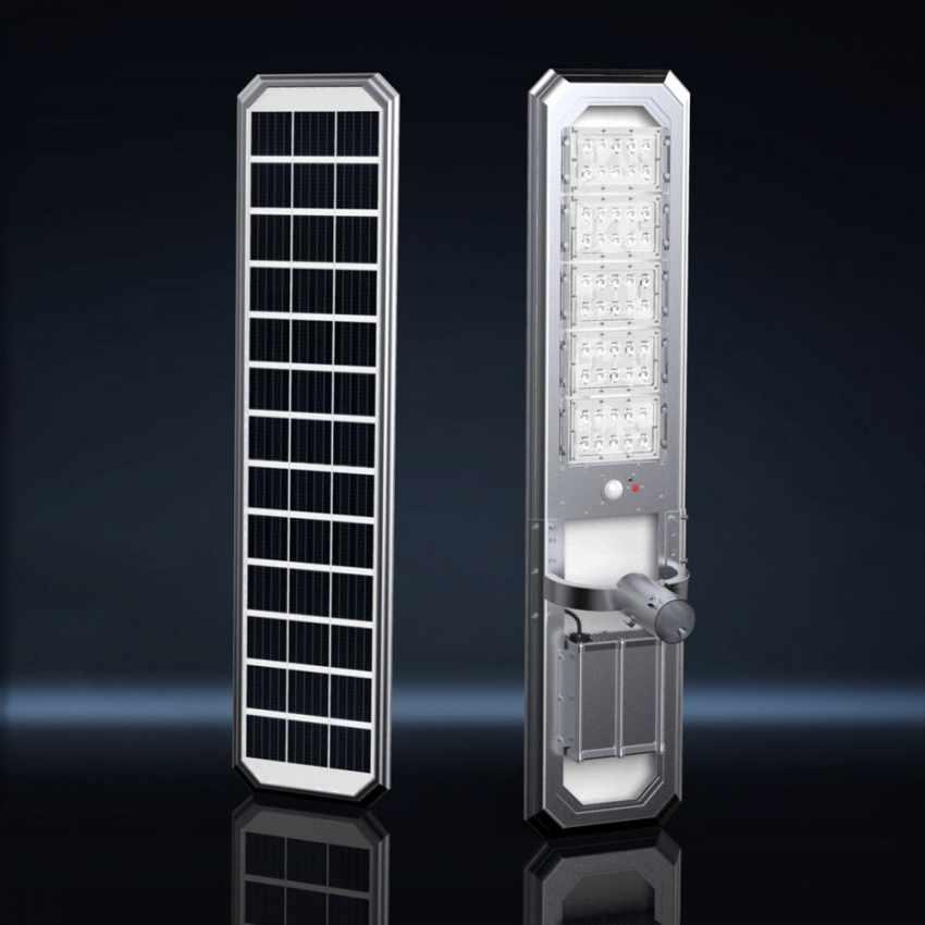 Lampadaire LED à Énergie Solaire 5000 Lumen idéal pour Routes Jardins GOLDRAKE - vendita