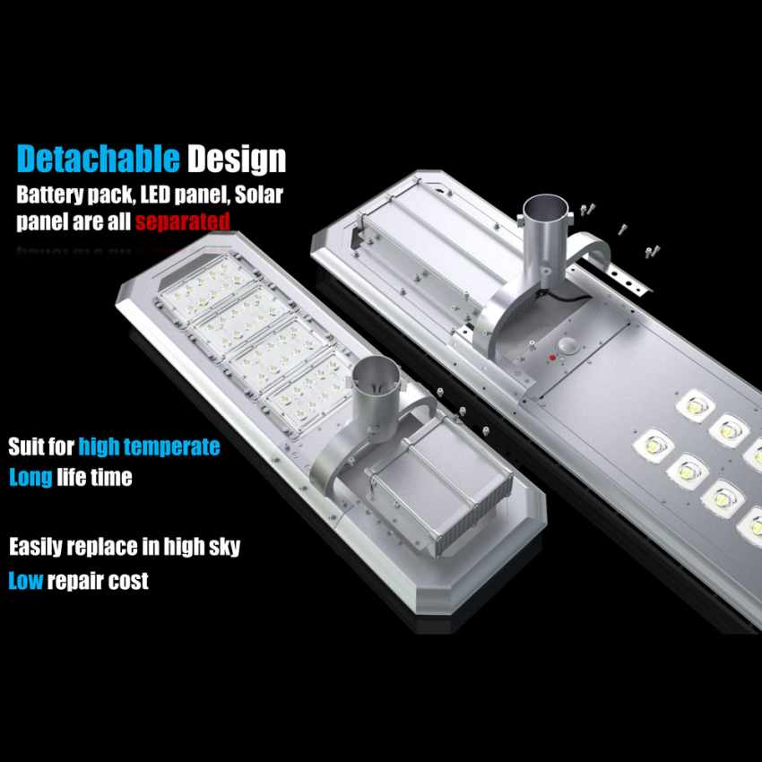 Lampadaire LED à Énergie Solaire avec Panneau Solaire et Capteurs pour la Route, Place, Stationnements ATLAS - arredamen