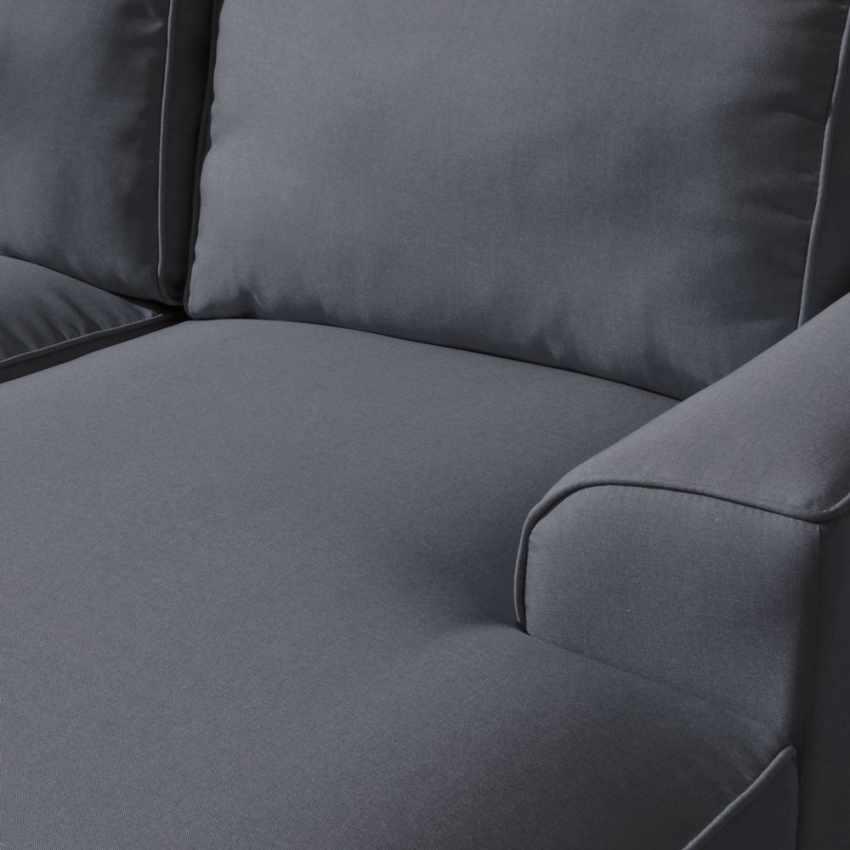 Canapé d'angle 3 places avec chaise longue avec accoudoirs en tissu DIAMANTE - scontato