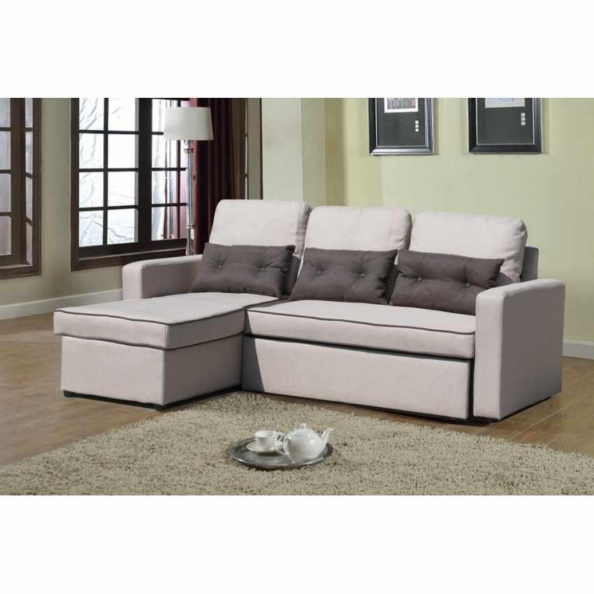 Canapé d'angle 3 places péninsule pour les salles de séjour SMERALDO - arredamento