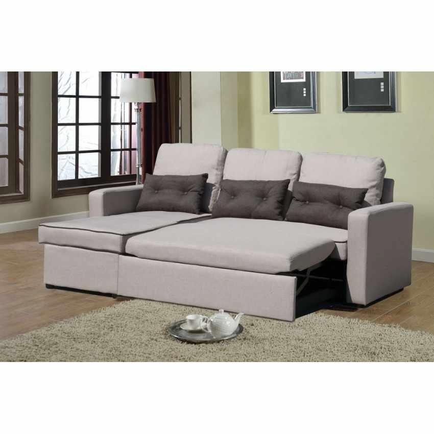 Canapé d'angle 3 places péninsule pour les salles de séjour SMERALDO - vendita