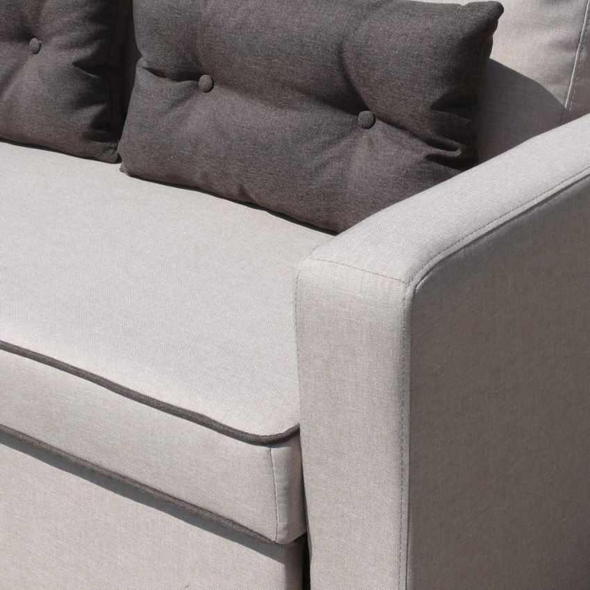 Canapé d'angle 3 places péninsule pour les salles de séjour SMERALDO - prezzo
