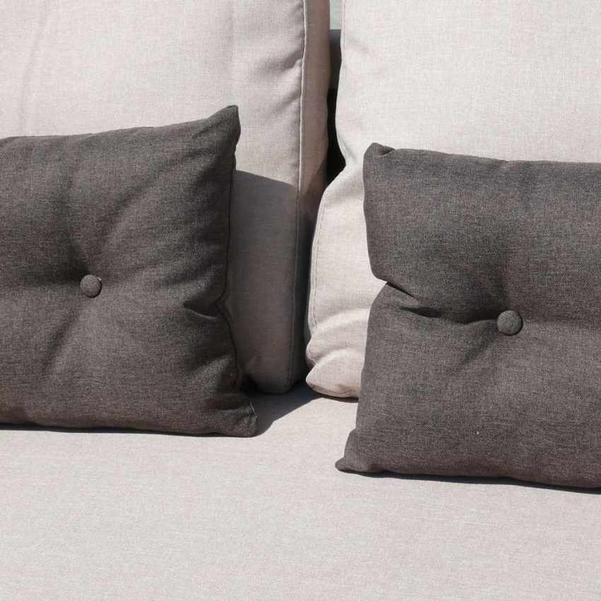 Canapé d'angle 3 places péninsule pour les salles de séjour SMERALDO - immagine