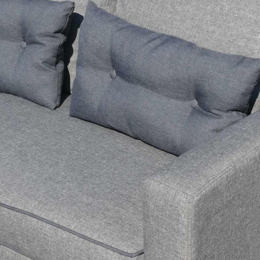 Canapé d'angle 3 places péninsule pour les salles de séjour SMERALDO - esterno