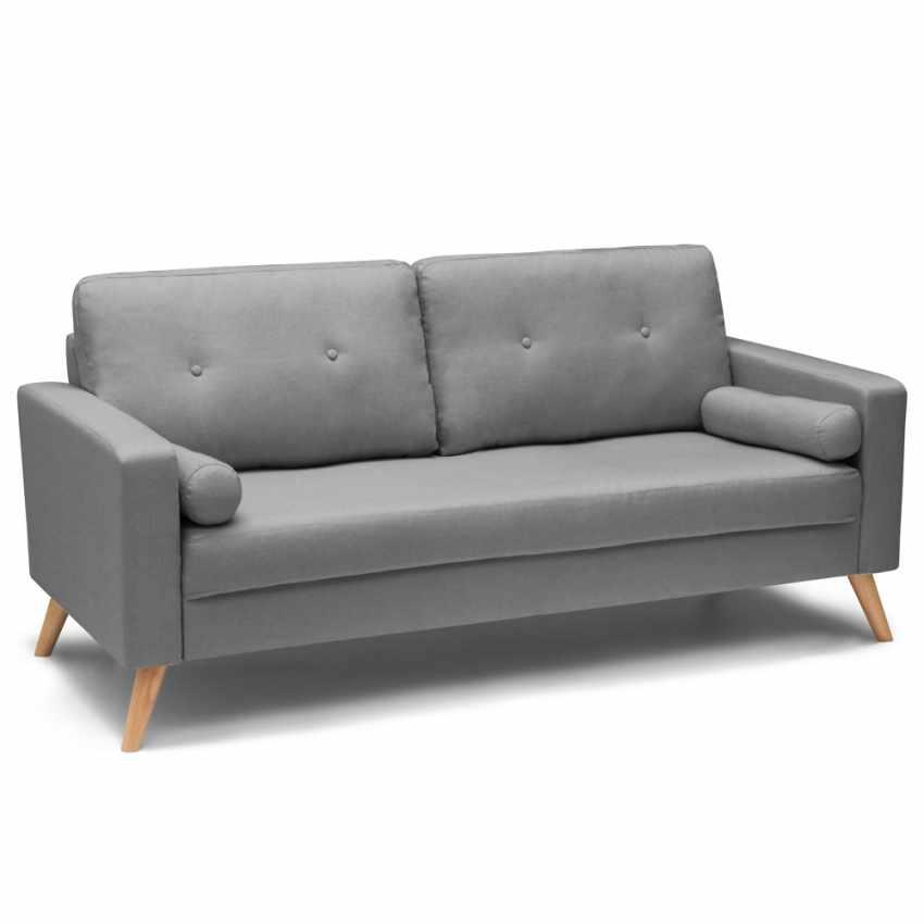 Canapé Design Moderne Style Scandinave en Tissu 3 Places pour salon et salle à manger ACQUAMARINA - prezzo