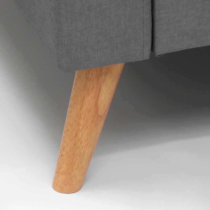 Canapé Design Moderne Style Scandinave en Tissu 3 Places pour salon et salle à manger ACQUAMARINA - immagine