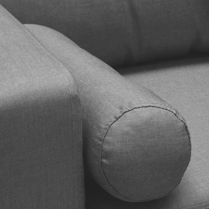 Canapé Design Moderne Style Scandinave en Tissu 3 Places pour salon et salle à manger ACQUAMARINA - dettaglio