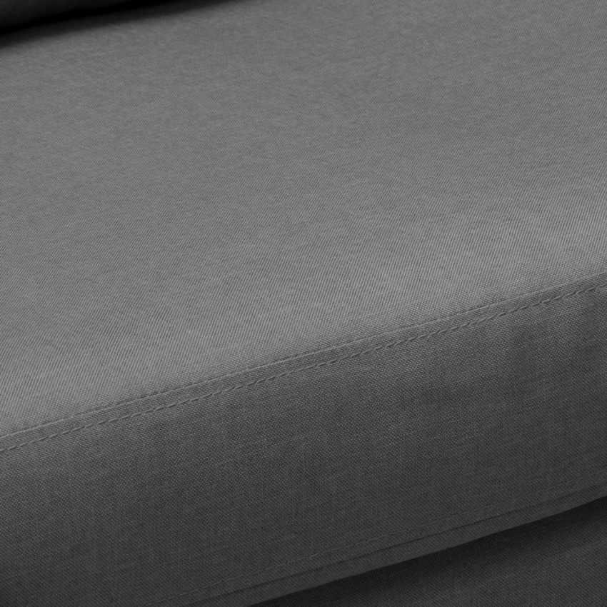 Canapé Design Moderne Style Scandinave en Tissu 3 Places pour salon et salle à manger ACQUAMARINA - migliore