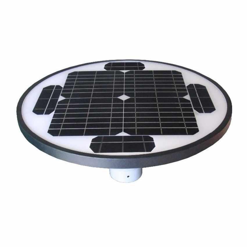 Réverbère Led solaire photovoltaïque jardin parc SQUARE - migliore