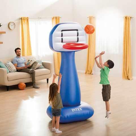 57502 - Panier Basket Intex 57502 Gonflable avec Ballon pour Maison et Jardin Shootin Hoops - dettaglio
