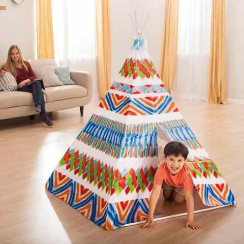 48629 - Tente Indienne Teepee Intex 48629 jeu pour enfants - trasparente