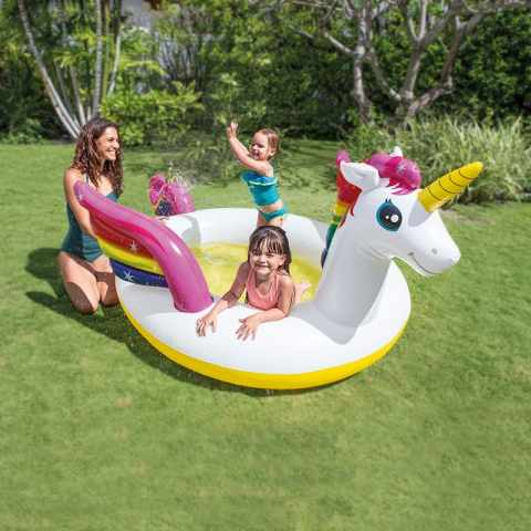 57441 - Piscine pour Enfants Intex 57441 Licorne Gonflable - bianco