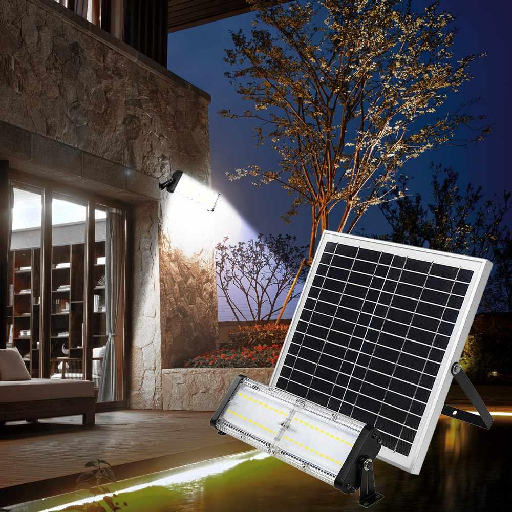 Lampe Energie Solaire Interieur lampe lumière solaire led jardin et extérieur 5000 lumens flood