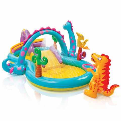 57135 - Intex 57135 Dinoland Play Center piscine gonflable pour enfants aire de jeux - giallo