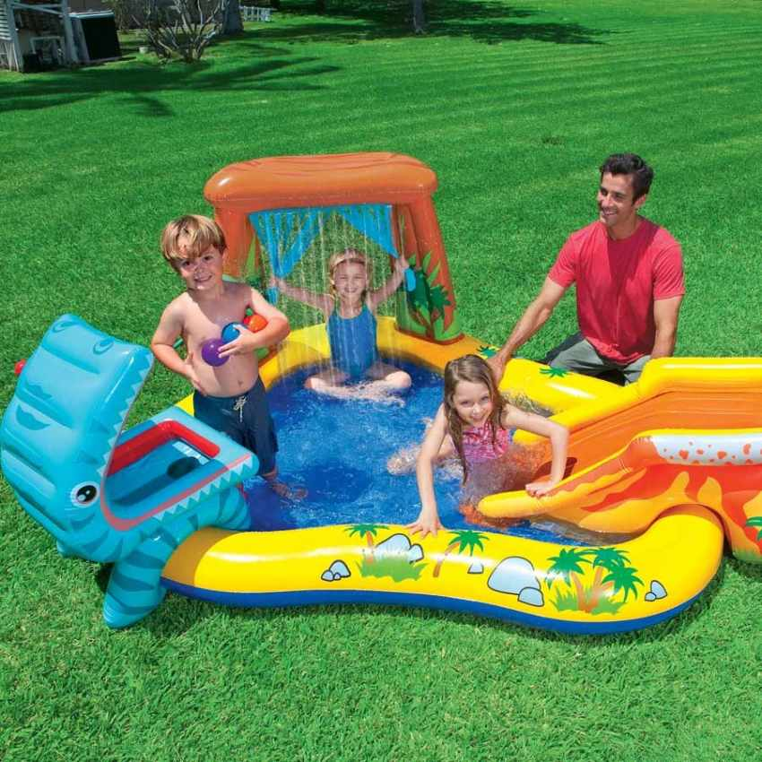Piscine gonflable pour les enfants intex 57444 dinosaure for Piscine intex gonflable