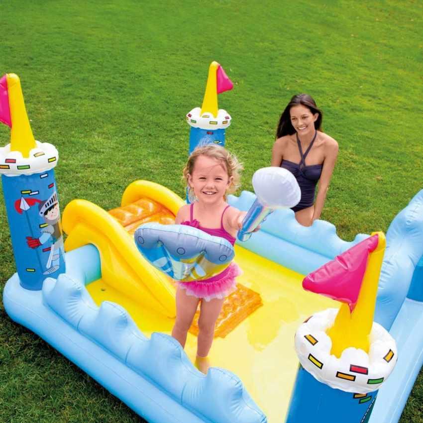 intex 57138 fantasy castle piscine gonflable pour les enfants ch teau jeu toboggan. Black Bedroom Furniture Sets. Home Design Ideas
