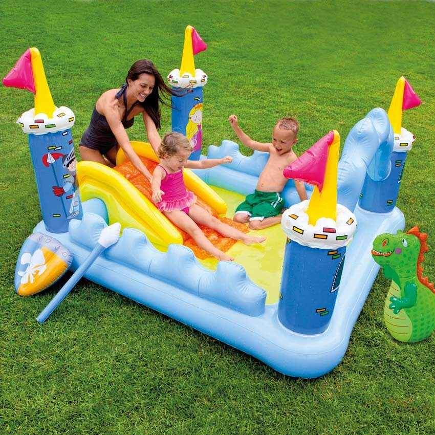 Intex 57138 fantasy castle piscine gonflable pour les for Toboggan intex piscine
