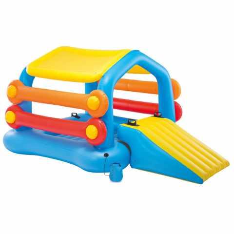 58294 - Intex 58294 gonflable île flottante avec toboggan pour les enfants - azzurro