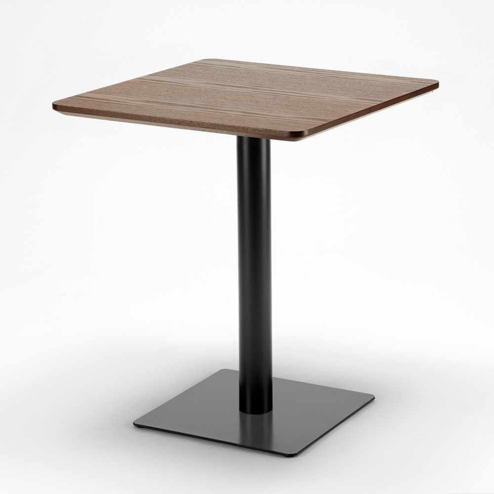 Table-60x60-carree-avec-pied-central-pour-bar-bistrots-HORECA miniature 30