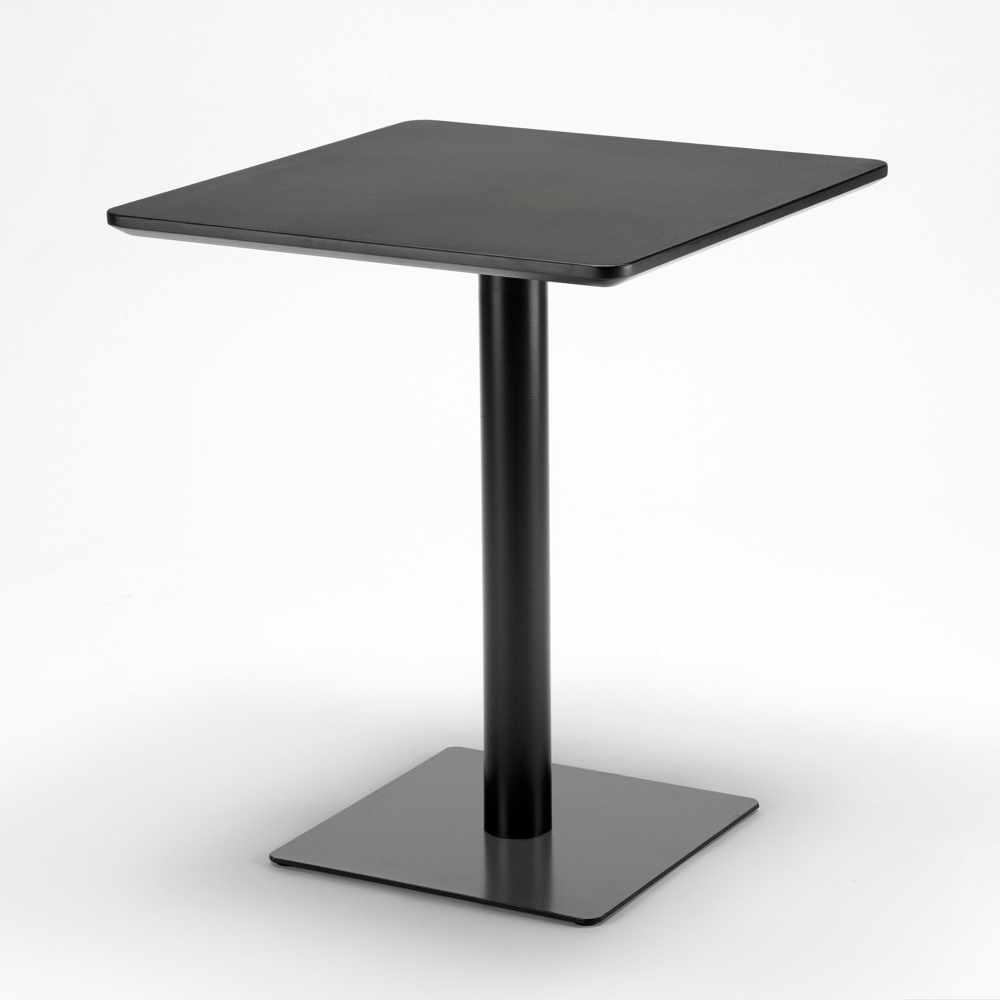 Table-60x60-carree-avec-pied-central-pour-bar-bistrots-HORECA miniature 26