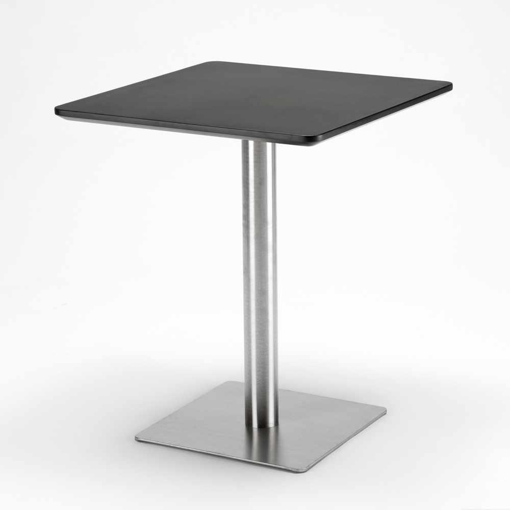 Table-60x60-carree-avec-pied-central-pour-bar-bistrots-HORECA miniature 18