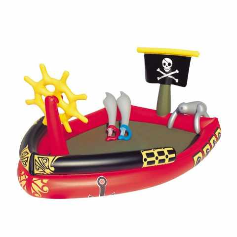 53041 - Piscine Gonflable Bateau Pirate 53041 Play Center - beige