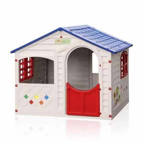 B8430B - Maisonnette en plastique pour enfants jardin exterieurs Grand Soleil CASA MIA - nero