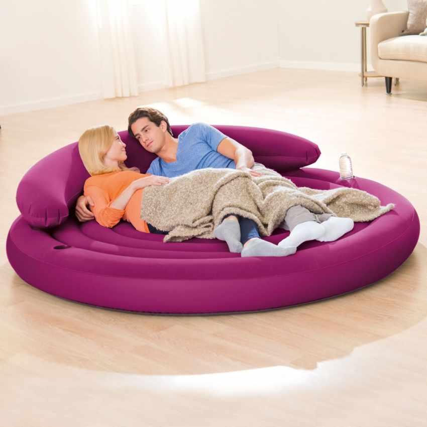 Canapé rond gonflable Intex 68881 jardin et piscine