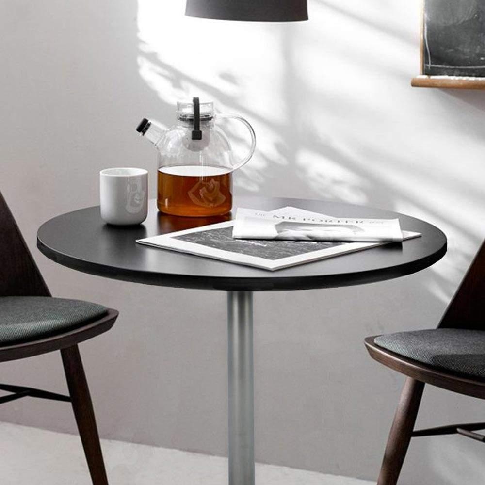 Bar-Table-ronde-blanc-carre-noir-70x70-BISTROT miniature 15