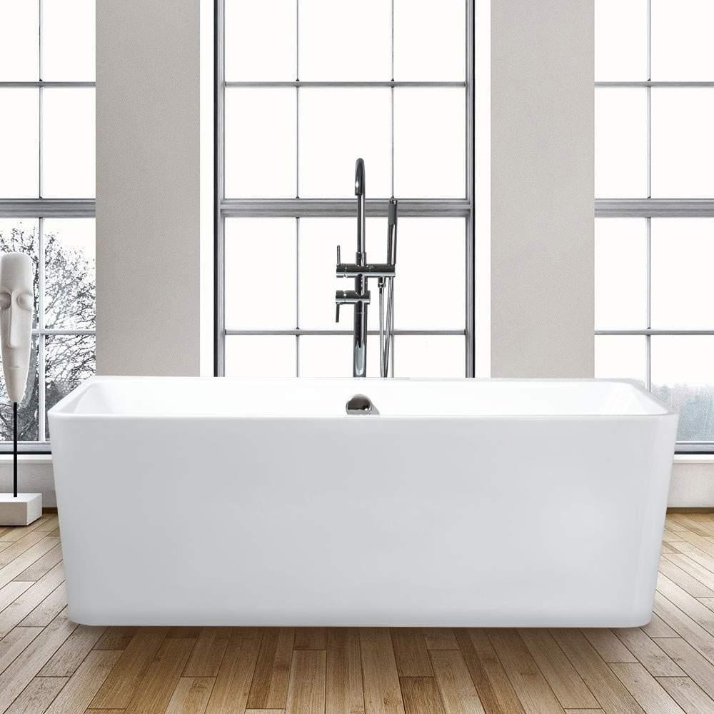 Baignoire Fibre De Pierre baignoire rectangulaire autoportante design moderne icaria