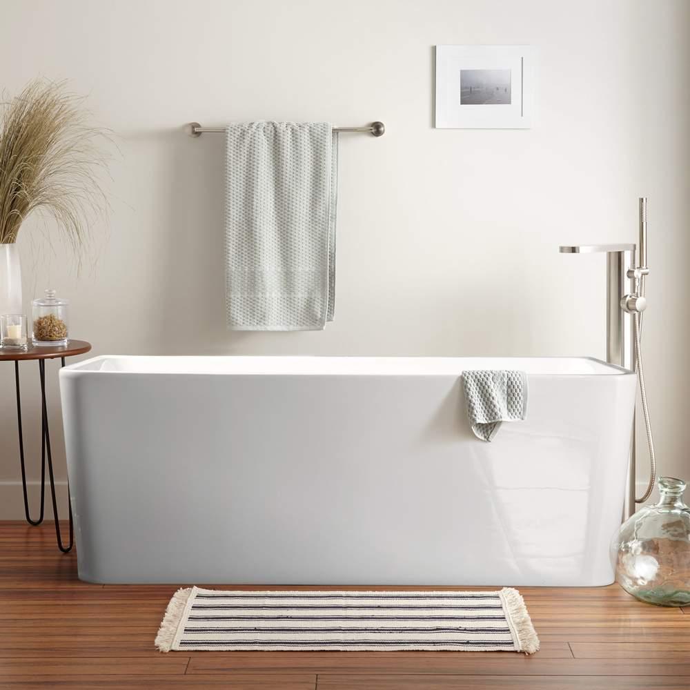 Baignoire Fibre De Pierre baignoire autoportante au design classique en résine andro
