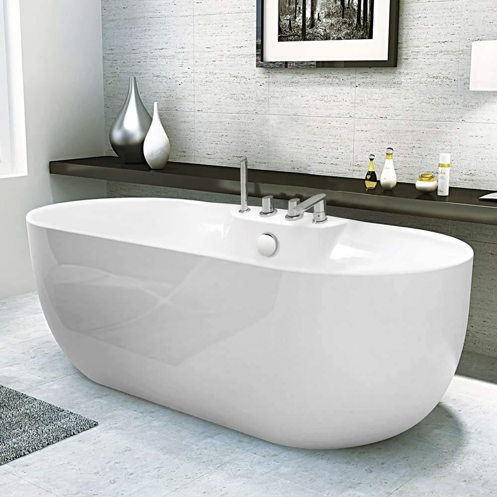 Aide Pour Sortir De La Baignoire baignoire ilot indépendante acrylique résine fiberglass design Élégant  atmosphere