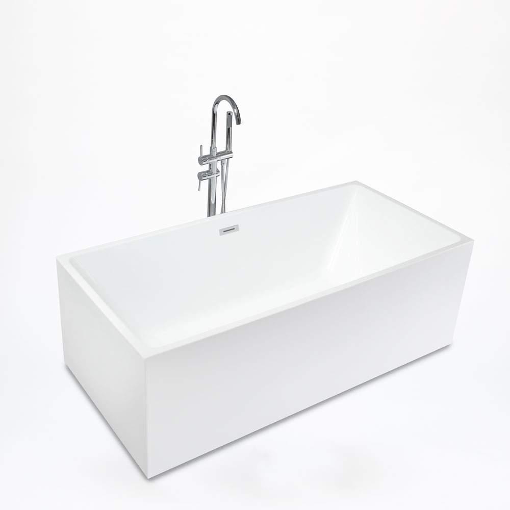 Baignoire Fibre De Pierre baignoire autoportante classic design rectangulaire en résine eubea