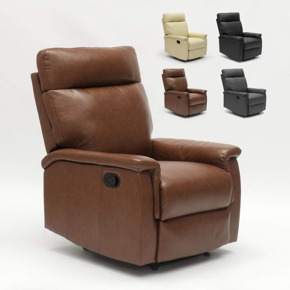 Relax Fauteuil Design.Fauteuil Relax Inclinable Avec Repose Pieds En Similcuir Design Aurora