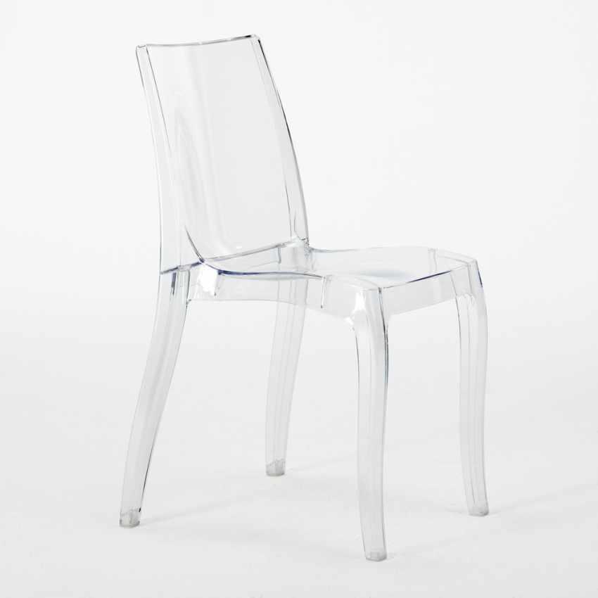 chaise empilable en polycarbonate transparent pour cuisine bar cristal light grand soleil. Black Bedroom Furniture Sets. Home Design Ideas
