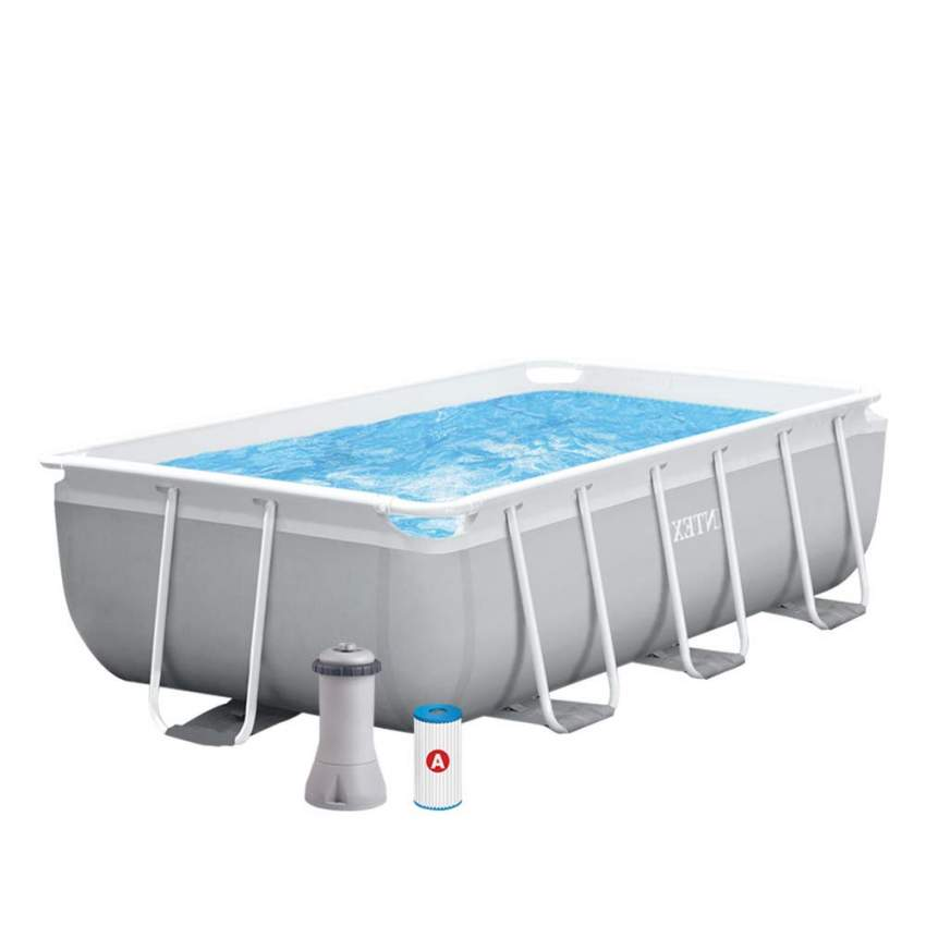 Intex 26784 piscine hors sol autoportante rectangulaire - Piscine rectangulaire hors sol intex ...