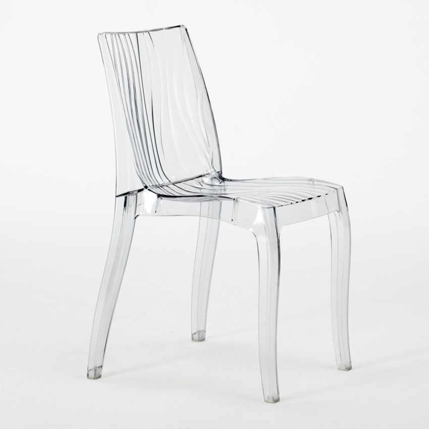 chaise empilable de bar cuisine en polycarbonate transparent dune grand soleil. Black Bedroom Furniture Sets. Home Design Ideas